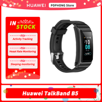 Huawei-pulsera inteligente TalkBand B5 con Bluetooth, muñequera deportiva portátil con pantalla táctil AMOLED y auriculares