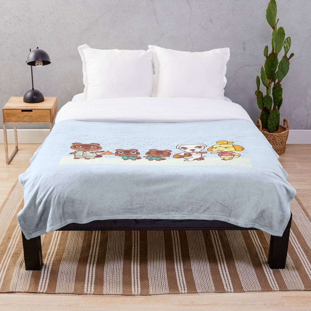 Animal Crossing Throw Blanket Soft Sherpa Blanket Bed Sheet Single Knee Blanket Office Nap Blanket