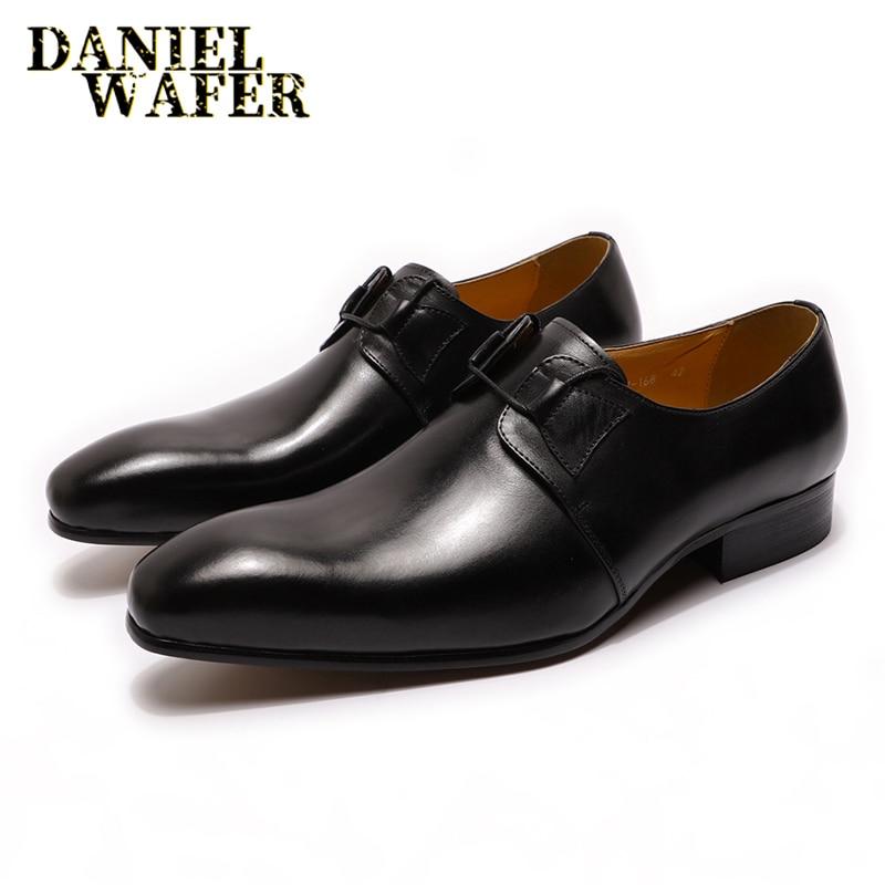 de moda de couro masculino sapatos de