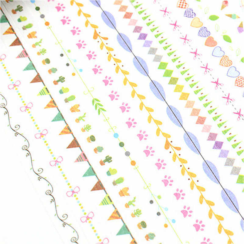 Un carrete de Kawaii Washi Masking Tape DIY cinta adhesiva decorativa adorable moda creativa dibujos animados para decoración de Scrapbooking