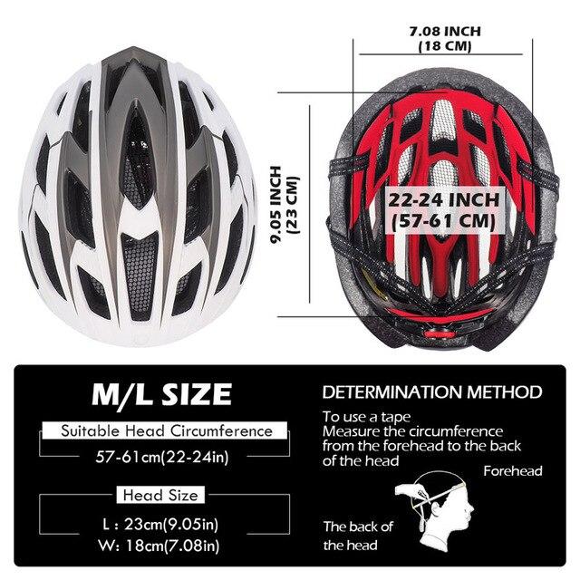 Victgoal capacete de bicicleta mountain bike, capacete de luz para ciclismo moldado integralmente à prova de vento com óculos de proteção 6
