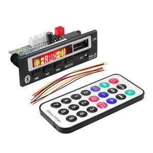 Image 3 - Kebiduカーオーディオのusb tf fmラジオモジュールワイヤレスbluetooth 5v 12v MP3 wmaデコーダボードMP3プレーヤー車用リモコン付き