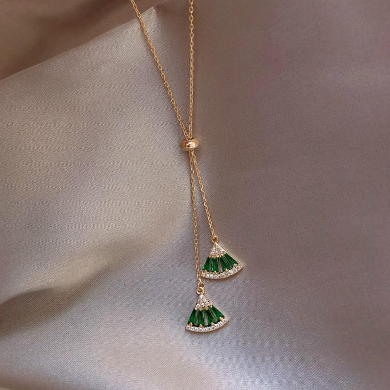 Горячая продажа классическое зеленое белое Кристальное геометрическое ожерелье чокер с медальоном для женщин массивные ювелирные изделия Колье      АлиЭкспресс