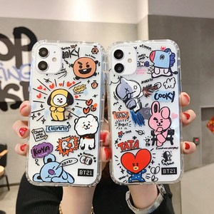 Cute cartoon Soft silicone color phone case for iphone 11 Promax X XR XS Max 6S 7 8 6 Plus cover Transparent case