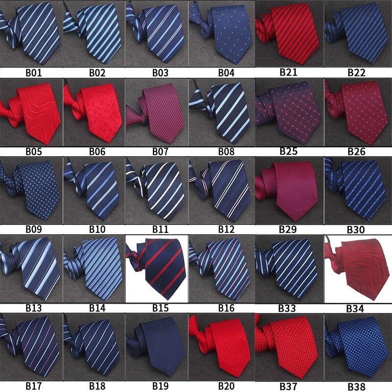 100 Styles Men's Zipper Tie Wholesale 46*8 Cm  Mans Business Women Necktie Pre-tied Striped Bridegroom Party Necktie Cravate