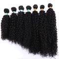 Одноцветные афро-кудрявые вьющиеся волосы, длина 14-30 дюймов, черные, коричневые, золотые синтетические волосы для женщин