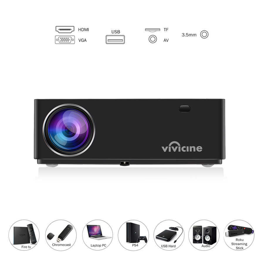 Vivicine M20 Terbaru 1080P Proyektor, pilihan Android 10.0 1920X1080 Full HD LED Home Theater Proyektor Video Proyektor Dukungan AC3