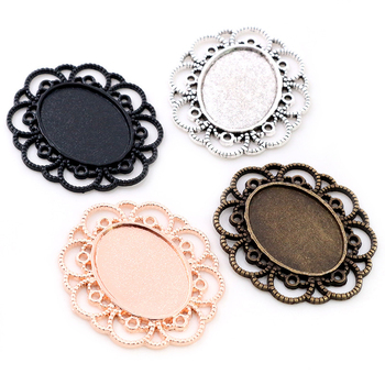 10pcs 18x25mm Inner Size 4 Colors Flowers Style Cameo Cabochon Base Setting Pendant necklace findings 3pcs 18x25mm inner size antique silver brooch pin classic style cameo cabochon base setting c2 30