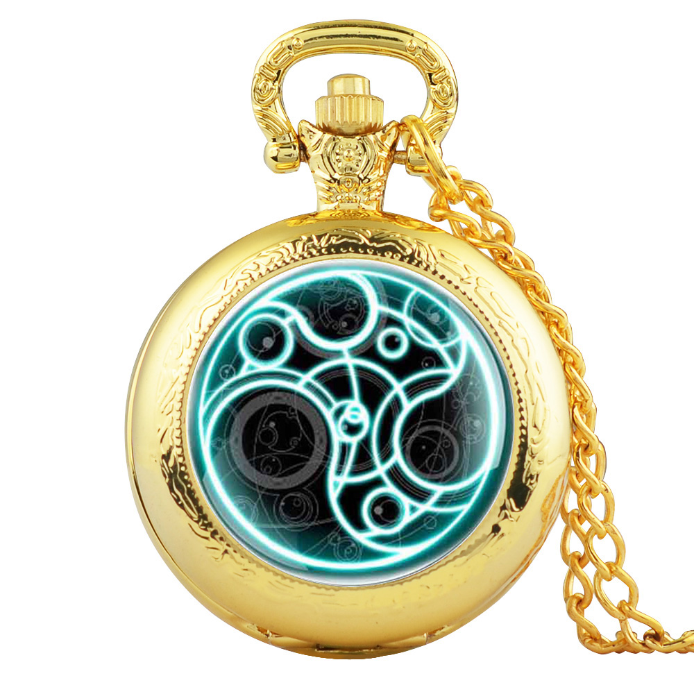 Retro Vintage The Punisher Skull Dial Arabic Numeral Quartz Pocket Watch Analog Pendant Necklace Men Women Watch Chain Gift