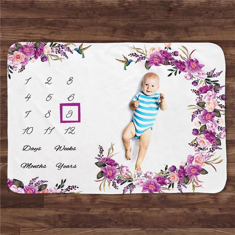 Multi Funktionale Winter Flanell Baby Milestone Decke Foto Hintergrund Geburt Spielen Matte Twins Hintergrund Kinder Bett Room Decor