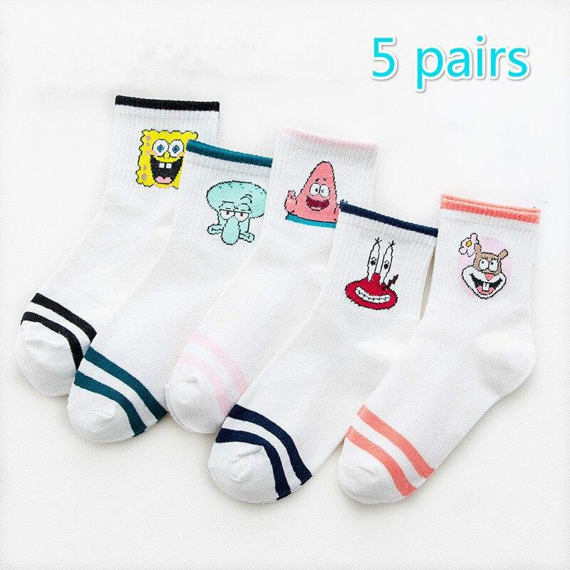 Fashion Cartoon Character Cute Short Socks Women Harajuku Cute Patterend Ankle Socks Hipster Skatebord Ankle Funny Socks Female