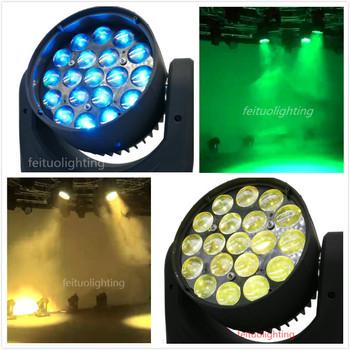 E-2in1 skrzynia transportowa oświetlenia scenicznego 19*10w rgbw 4 in1 dmx512 liry myjąca led zoom ruchoma głowica światła dj-skie tanie i dobre opinie fei zhi tuo Efekt oświetlenia scenicznego Oświetlenie sceniczne DMX 245w FT-921B 90-240 V Profesjonalne stage dj high-power emitters RGBW 15W LED
