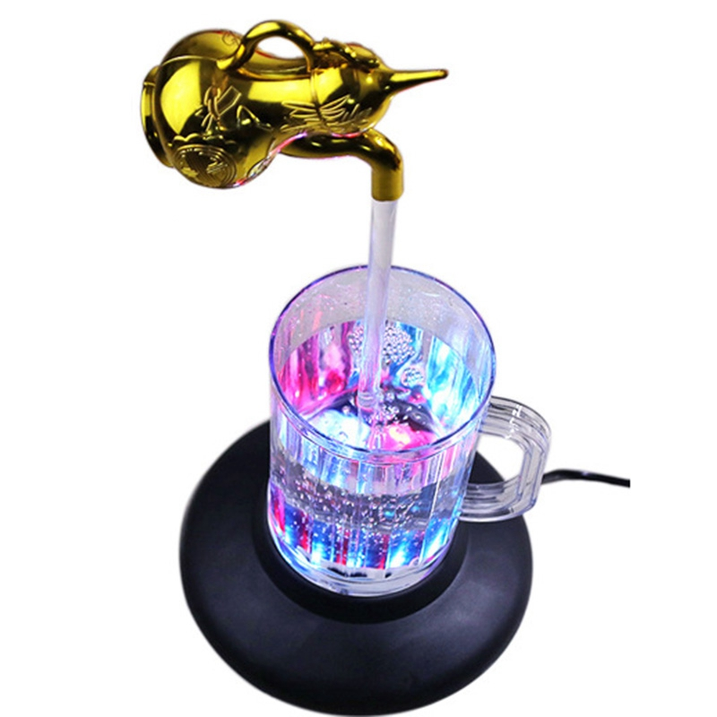 Promotion! Magic Tap Running Lights Holiday Gift Colorful Magic Tap Running Lights Water Column Lamp Magic Faucet Fountain 7 Col