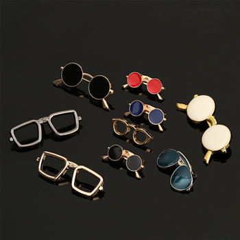1pc Sunglasses Pin Glasses Lapel Pins Summer Cool Shirt Collar Badges Brooches for Men Women Unisex Minimal Jewelry image