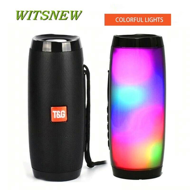 TG157 Bluetooth Speaker Portable Outdoor Loudspeaker Wireless Column 3D 10W Stereo Music Surround Support FM TFCard Bass Box