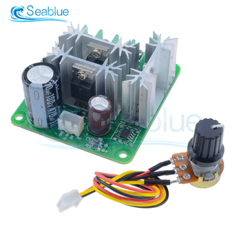 DC 6V-90V 15A DC Motor Speed Controller Switch Stepless Speed Regulation Pulse Width PWM DC 12V 24V 36V 48V 1000W image