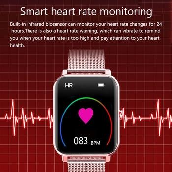 LIGE 2021 New Full Touch Screen Smart Watch Women Sports Heart Rate Waterproof Fitness Smart Watches Women's Smartwatch relogio 2
