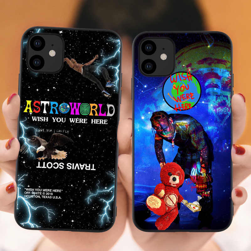 Yinuoda travis scott astroworld Pattern TPU Soft Phone Cell