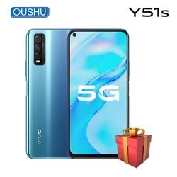 Оригинальный vivo Y51s 5G мобильный телефон Exynos 880 6,53 ''ЖК-экран 6 ГБ 128 ГБ Celular 4500 мАч большая батарея 48MP телефоны на Android