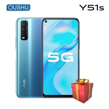 Перейти на Алиэкспресс и купить Оригинальный vivo Y51s 5G мобильный телефон Exynos 880 6,53 ''ЖК-экран 6 ГБ 128 ГБ Celular 4500 мАч большая батарея 48MP телефоны на Android