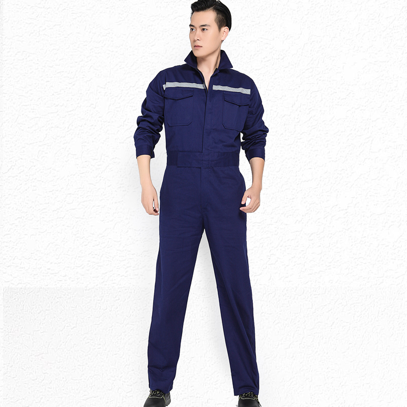 Spring Working Suit Workwear Men Women Long Sleeves Overalls Workmen Uniform Reflective Stripe Car Workshop Mechanical Coveralls