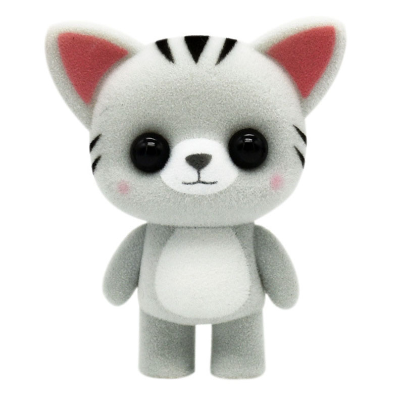 Toys Doll Gift-Figures Flocking Panda Furry Girls Animals Mini Kids PVC for Children