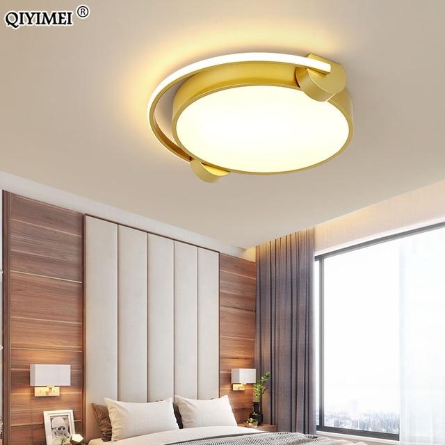 الذهبي سماعات شكل سقف ليد حديث أضواء لغرفة النوم السقف مصباح تركيبات بنين بنات دراسة غرفة الحضانة الإضاءة