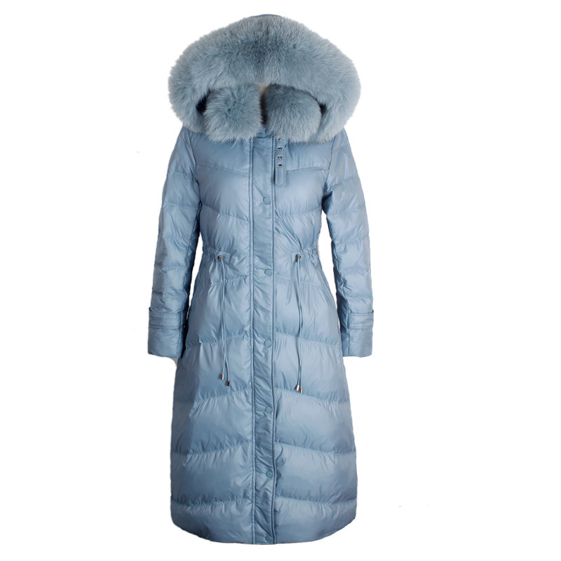 Winter Female Jacket Thick Warm Ladies Duck Down Jacket Large Fox Fur Hooded Clothes 2019 Long Down Parka Coat Hiver 1578