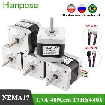 Free shipping 5pcs 4-lead Nema17 40mm Stepper Motor 42 motor Nema 17 motor 1.7A (17HS4401) 3D printer motor and CNC XYZ цена 2017