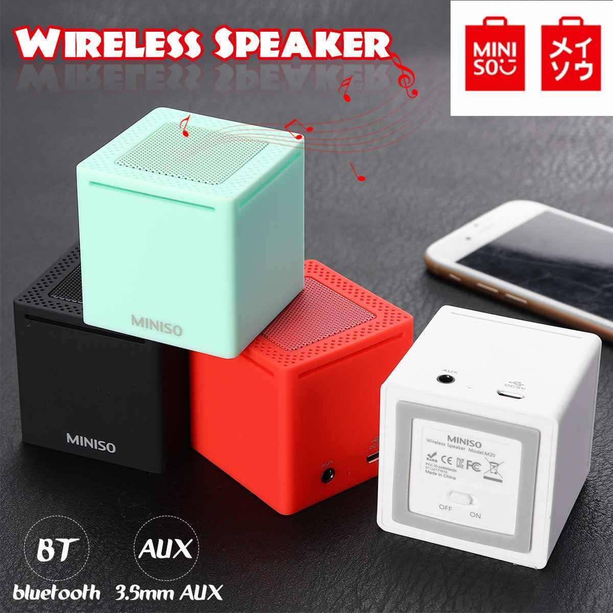 Globle Versi Miniso Portabel Bluetooth Speaker Mini Nirkabel Pengeras Suara Speaker untuk Ponsel Komputer Stereo Musik Outdoor