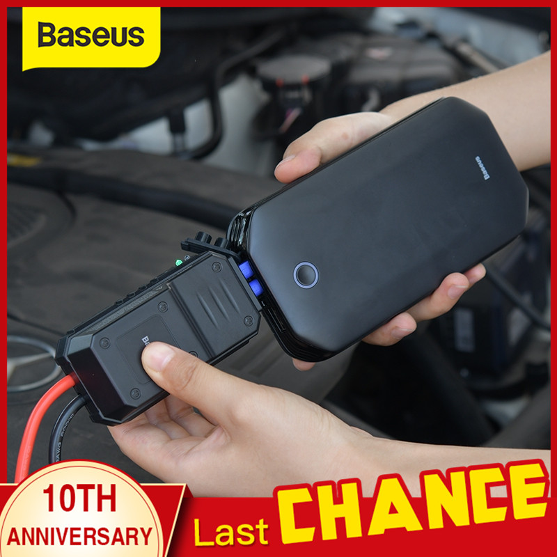 Baseus Car Jump Starter Battery Power Bank Portable 12V 800A Vehicle Emergency Battery Booster For 4.0L Car Power Starter