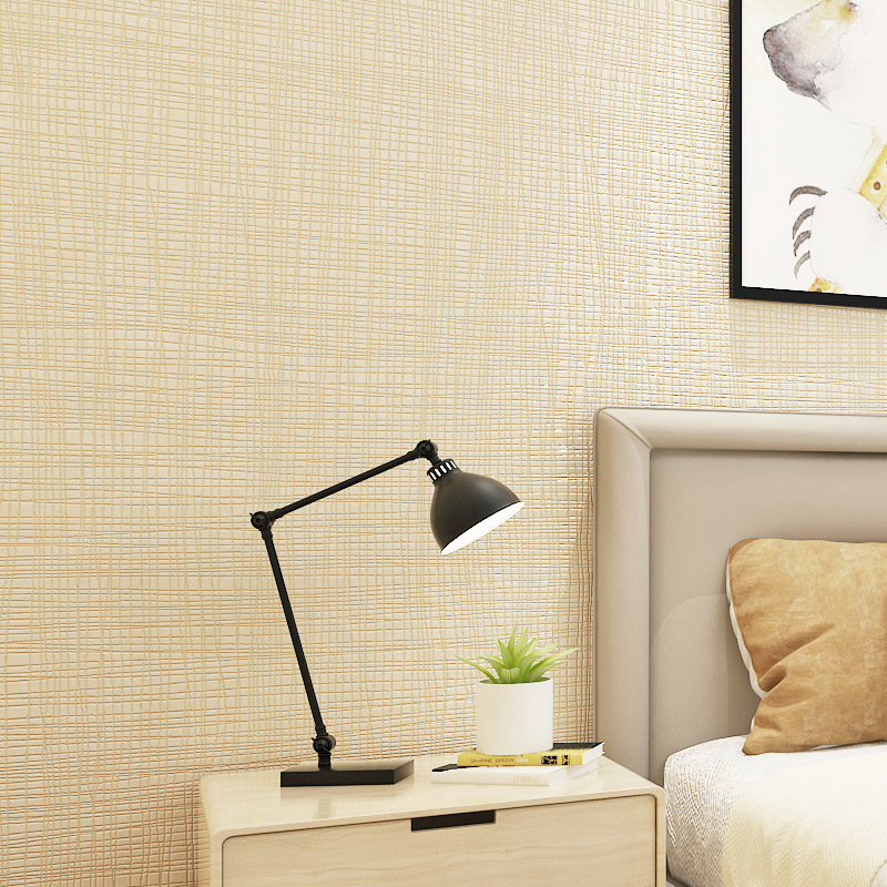 Minimalist Modern Nonwoven Fabric Plain Color Wallpaper Living Room Bedroom Warm Wall Hotel Engineering Solid Color European Sty