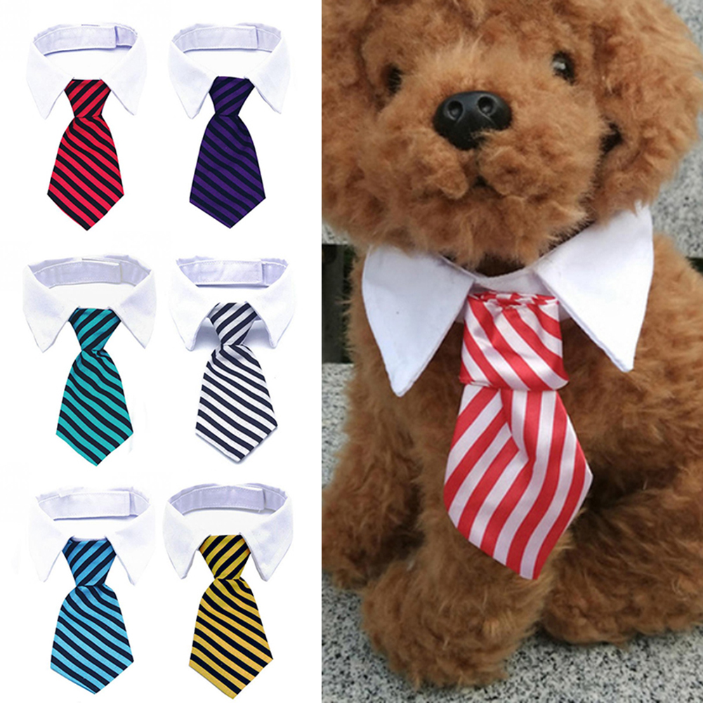 Dog Grooming Cat Adjustable Striped Bow Tie Animal Striped Bowtie Collar font b Pet b font