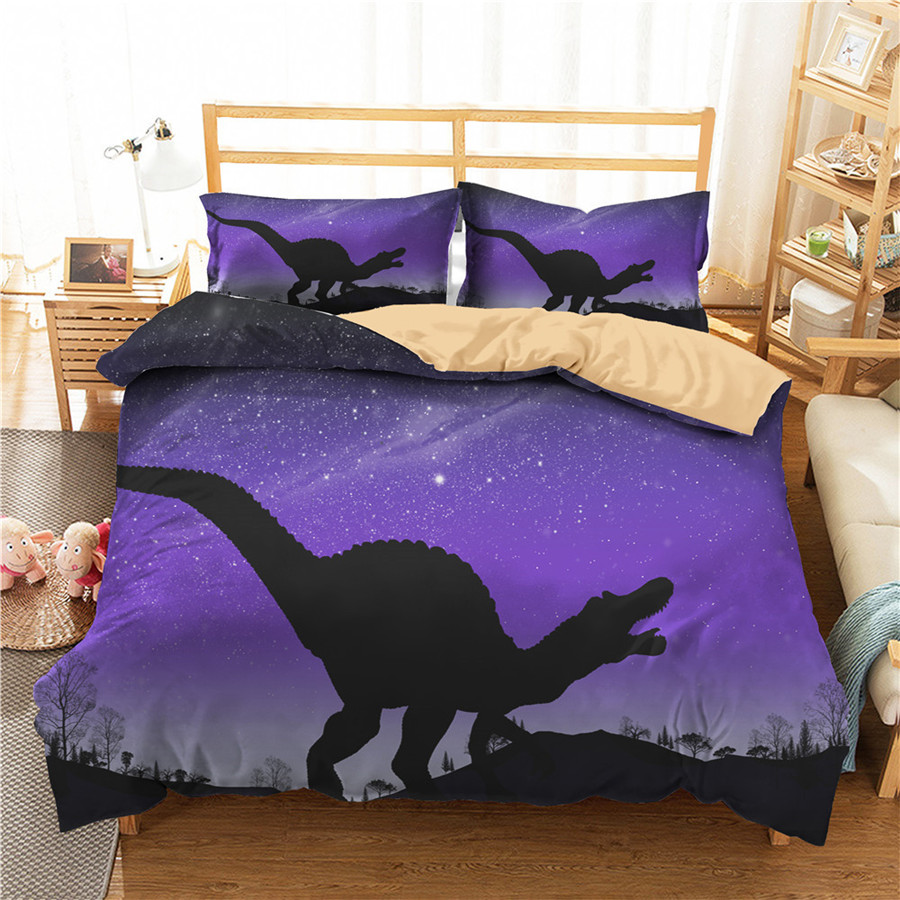 A Bedding Set 3D Printed Duvet Cover Bed Set Dinosaur Home Textiles For Adults Bedclothes With Pillowcase #DG21