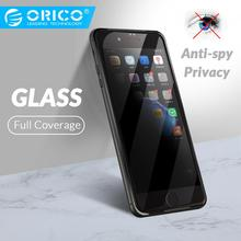 ORICO Anti Spy Transparent Glass Screen Protector For iphone 6 6S Tempered Glass On iphone 7 8 Plus Privacy Screen Protector стоимость