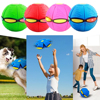 Magic UFO Deformation Ball Led Bouncing Ball Magic Flying Saucer Ball Outdoor Toy For Children Fun Game Sports Toys Flying Discs