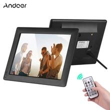 Andoer 9 pulgadas Ultra delgado IPS LCD Digital marco foto escritorio álbum 1280*800 compatible con foto/música/vídeo/alarma/detección de movimiento