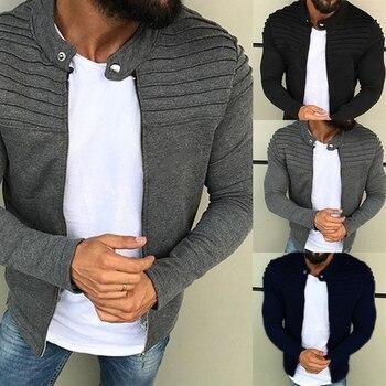 Jacket Men Jaqueta Masculino 2020 Winter Autumn Long Sleeve Streetwear Raglan Zipper Coat Raglan Casaco Masculino