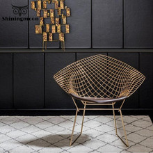 Modern Creative Metalic Chair Nordic Contemporary Furniture Dinning Room Chairs Fashion Negotiation Restaurant Applicable Chair beyond negotiation