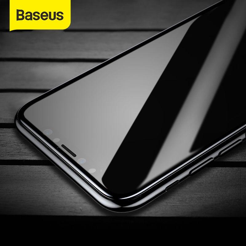 Baseus vetro temperato per iPhone XS pellicola salvaschermo per iPhone 11 vetro a copertura totale per iPhone XR pellicola frontale pellicola sottile