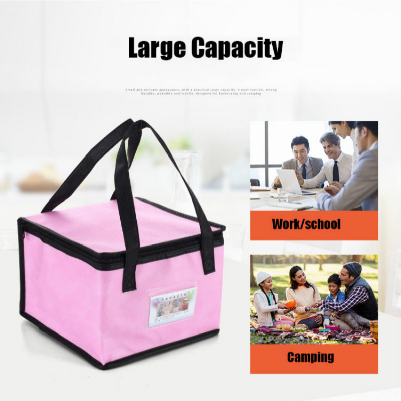 Waterproof Insulated Bag Lunch Cooler Bag Insulation Folding Picnic Portable Ice Pack Food Thermal Food Delivery Bag Pizza Cake