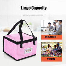 цена на Waterproof Insulated Bag Lunch Cooler Bag Insulation Folding Picnic Portable Ice Pack Food Thermal Food Delivery Bag Pizza Cake