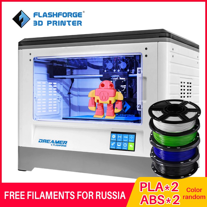 Flashforge 3D Printer 2019 FDM Dreamer Dual Color Print WIFI And Touchscreen W/2 Spool Fully Assembled 3D Drucker