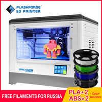 Imprimante 3D Flashforge 2019 FDM Dreamer impression double couleur WIFI et écran tactile avec 2 bobines Drucker 3D entièrement assemblé