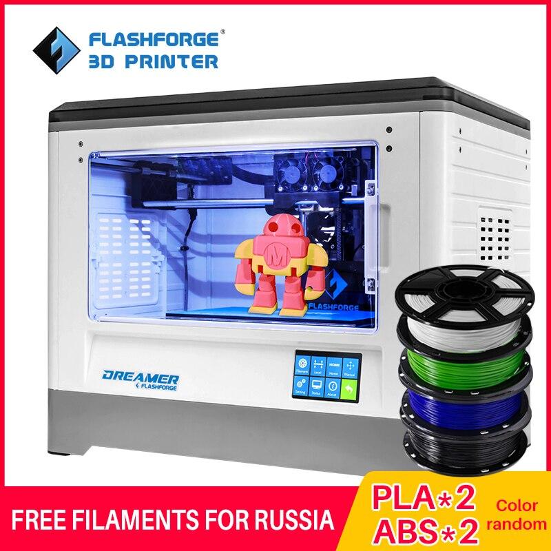 Stampante Flashforge 3D 2019 Fdm Dreamer Doppia Stampa a Colori Wifi E Touchscreen W/2 Spool Completamente Assemblato 3D Drucker