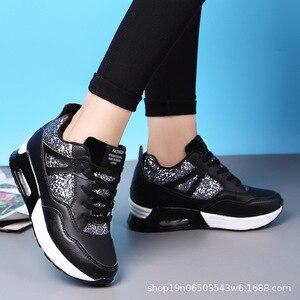 Image 4 - COWCOM Primavera delle Donne Elevati Scarpe Cuscino Daria Runningg Scarpe Traspirante paillettes spessa suola di sport scarpe casual
