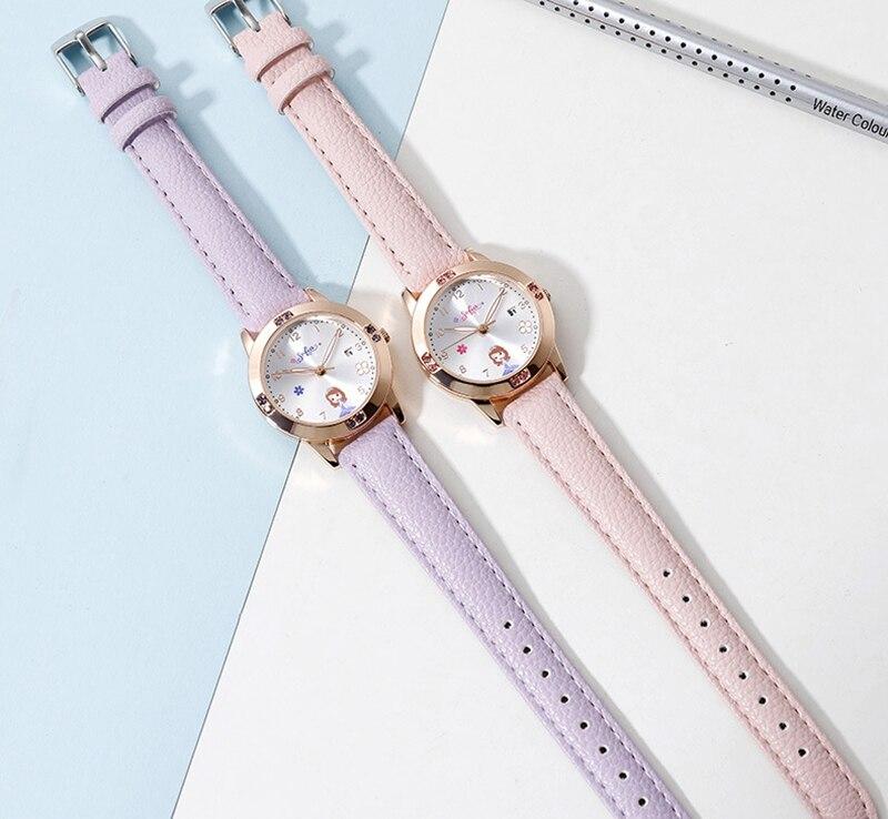 strass diamante bonito meninas relógios crianças cinta