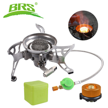 BRS Multi Portable Power 1400W-2900W Stainless Steel Gas Stove Outdoor Camping BBQ Equipment Mini Windproof Gas Burner BRS-15