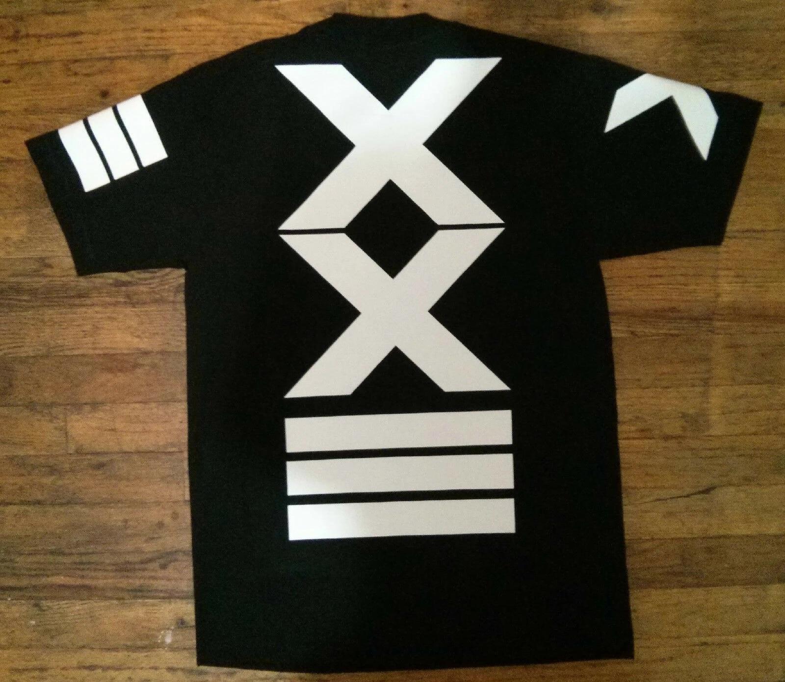 New Stars Jersey T shirt Stripes Hip Hop Cross T-shirt Rap Urban Streetwear Tyga Tees Top Cotton Short Sleeve Tshirt