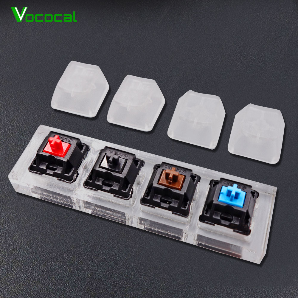 Vococal Portable <font><b>Mechanical</b></font> <font><b>Keyboard</b></font> Keypad <font><b>Tester</b></font> Set Acrylic Keycaps Key Caps 4-Axis Frame Bundle Test Kit Set for Cherry MX image